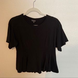 Top Shop pleated tee shirt SIZE M